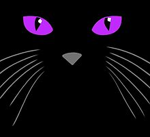 Cat face-Black cat by augustinet