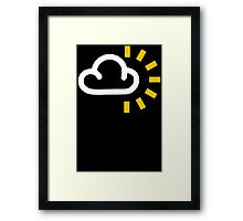 CLOUDY With SUN WEATHER SYMBOL Funny Mens T Shirt S - XXXL Humour SUNNY Framed Print