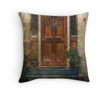 Christmas Lights in Veazie, Maine Throw Pillow
