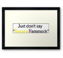 Banana Hammock Framed Print