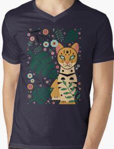Ocelot Cub Mens V-Neck T-Shirt