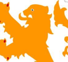 Holland Orange Lion Soccer Sticker Sticker