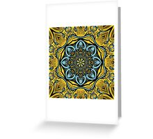 Gothic blue pattern Greeting Card