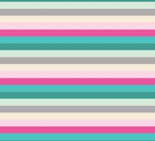 Abstract Colorful Stripes Pattern Sticker
