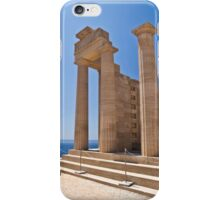 Ancient Temple ruins in Rhodes, Greece iPhone Case/Skin