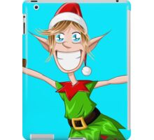 Christmas Elf Spreading Arms And Smiling iPad Case/Skin