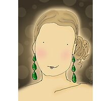 Girl with Emerald Earrings Photographic Print