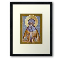 St Moses the Ethiopian Framed Print