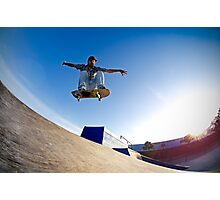 Skateboarder flying Photographic Print