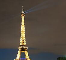 Eiffel Tower by Night by aMillionWordsCa