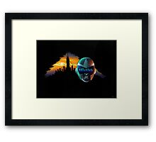 This City - A Warrior Stands Framed Print