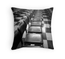 Chairs & Squares Throw Pillow