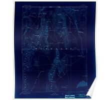 USGS Topo Map Nevada Disaster 321656 1893 250000 Inverted Poster
