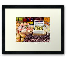 Fruit Stand in Beijing Framed Print