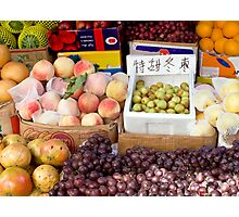 Fruit Stand in Beijing Photographic Print