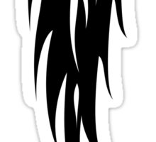 Black Flames Shape Stencil Sticker Sticker