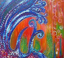 Ocean Floor - acrylic painting by LeahG by Leah G