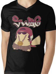 Swagachu Pikaswag Thugachu Mens V-Neck T-Shirt