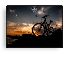 muountain biking Canvas Print