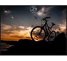 muountain biking Photographic Print