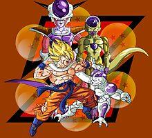 Dragon Ball Z Goku Fighting Frieza by J. Danion