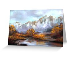 Mountains in fall Greeting Card
