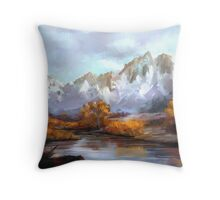 Mountains in fall Throw Pillow