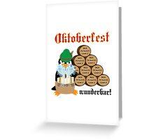 Oktoberfest Penguin Greeting Card