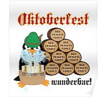 Oktoberfest Penguin Poster