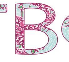 Lily Pi Beta Phi Letters (White Backrground) Sticker