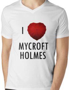 I love Mycroft Holmes Mens V-Neck T-Shirt