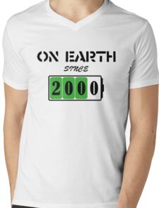 On Earth Since 2000 Mens V-Neck T-Shirt