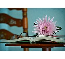 Book of Flowers Photographic Print