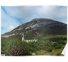 St John's Church and Errigal Mountain Poster