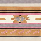 Rustic Tribal Pattern in Raw Sienna, Strawberry and Ash by Tangerine-Tane