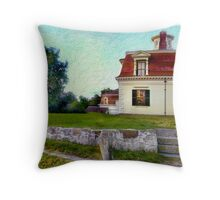 Dawn At Whalebone Mansion Throw Pillow