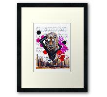 Eye of my tiger Framed Print