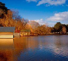 Lake Wendouree Boathouses by Dean Gerrard