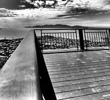 Monochrome lookout by Matthew Larsen