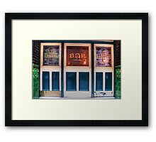 Bar Door (In Colour)  Framed Print