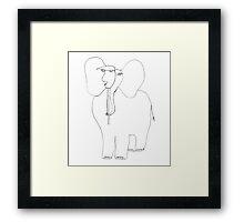 danimal's bestiary: elephant Framed Print