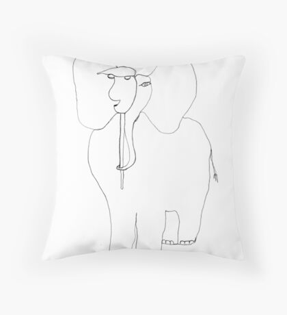 danimal's bestiary: elephant Throw Pillow
