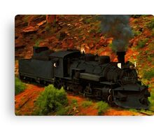 Canyon Train Canvas Print