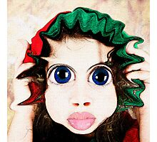 Happy Warped Christmas Elf  Photographic Print