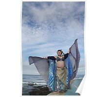 Fifi Noir Double Isis Wings at the Beach Poster