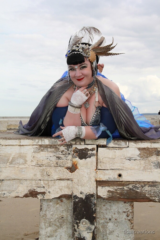 Fifi Noir Cheeky Vintage Bellydancer  by tidalcreations