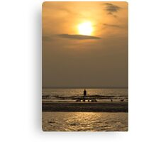 Hazy Autumn Sunset Canvas Print
