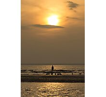 Hazy Autumn Sunset Photographic Print