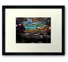 Vietnam fishing boats Framed Print