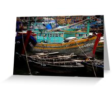 Vietnam fishing boats Greeting Card